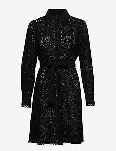 YASHOLI LS SHORT SHIRT DRESS FT S. - hemdkleider - black