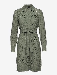 YASHOLI LS SHORT SHIRT DRESS FT S. - SEA SPRAY