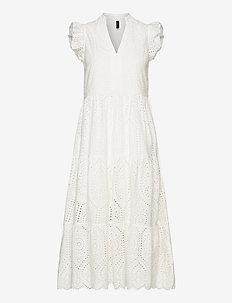 YASHOLI SL MIDI DRESS S. - midi jurken - star white