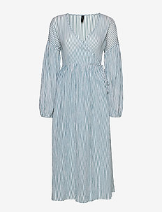 YASMALTA LS MIDI DRESS - PB - omslagskjoler - sea foam
