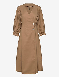 YASSHANTI 2/4 MIDI DRESS - ICON - wickelkleider - ermine