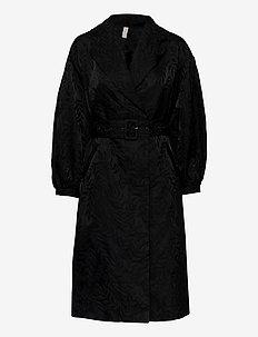 YASRESNICK COAT - SHOW - dunne jassen - black