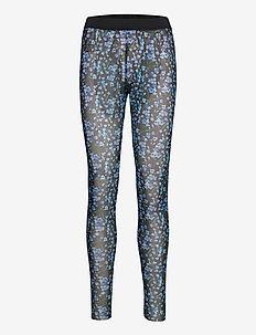 YASMILANA HW MESH LEGGINS FT - leggings - black