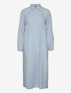 YASTRIO LS MIDI SHIRT DRESS S. - zomerjurken - cashmere blue