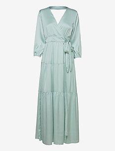 YASLUMEN WRAP 3/4 MAXI DRESS - SHOW - sommerkjoler - starlight blue