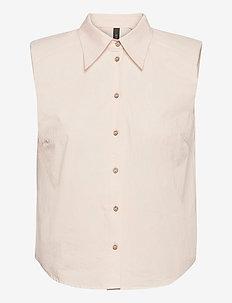 YASAGANA SL SHIRT S. - short-sleeved shirts - eggnog