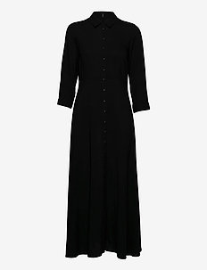 YASSAVANNA LONG SHIRT DRESS  - blousejurken - black