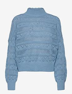 YASERULA LS KNIT PULLOVER - trøjer - dusk blue