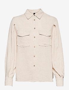 YASVIGGI LS SHIRT - overhemden met lange mouwen - eggnog