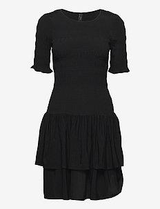 YASCERIA SS DRESS S. - festkjoler - black