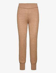 YASRONJA KNIT PANT- LW - kleding - tawny brown