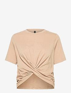 YASSARITA 2/4 TOP S. LW - t-shirts - light taupe