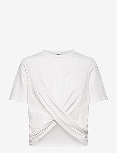 YASSARITA 2/4 TOP S. LW - t-shirts - star white