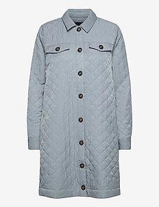 YASSCHEANA LS LONG SHACKET - quiltade jackor - cool blue