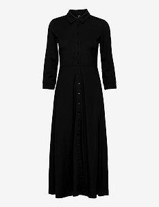 YASSAVANNA 3/4 LONG JERSEY  DRESS DF - skjortklänningar - black