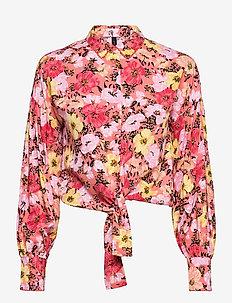 YASCAMELIA LS TIE SHIRT - CA - overhemden met lange mouwen - crabapple