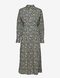 YASRIKKE LONG SHIRT DRESS - DF - sommarklänningar - eggnog