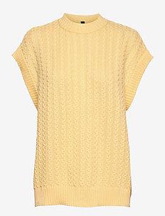 YASVANILLA SL GILET - CA - gebreide t-shirts - french vanilla