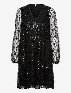 YASRIKKA LS DRESS - SHOW - paljettkjoler - black