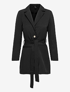 YASSERENA 7/8 LOOSE BLAZER - CA - casual blazere - black