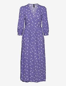 YASWENDY 3/4 WRAP DRESS - CA - sommerkjoler - blue iris