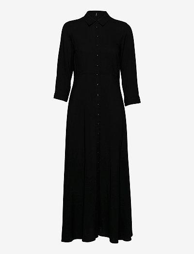 YASSAVANNA LONG SHIRT DRESS - kesämekot - black