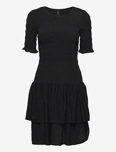 YASCERIA SS DRESS S. - summer dresses - black