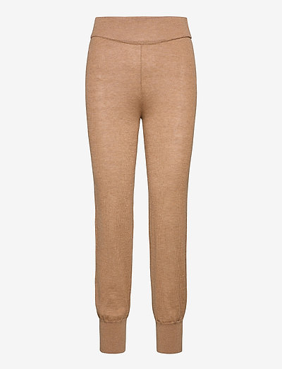 YASRONJA KNIT PANT- LW - clothing - tawny brown