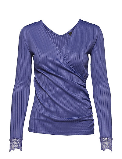 YASBLACE WRAP LS TOP - ULTRA VIOLET