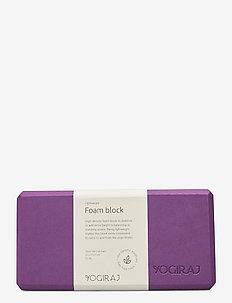 Yogablock - Yogiraj - yogablokken en -riemen - lilac purple