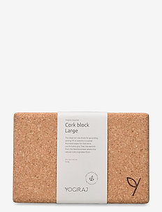 Cork block, large - YOGIRAJ - briques et sangles de yoga - natural