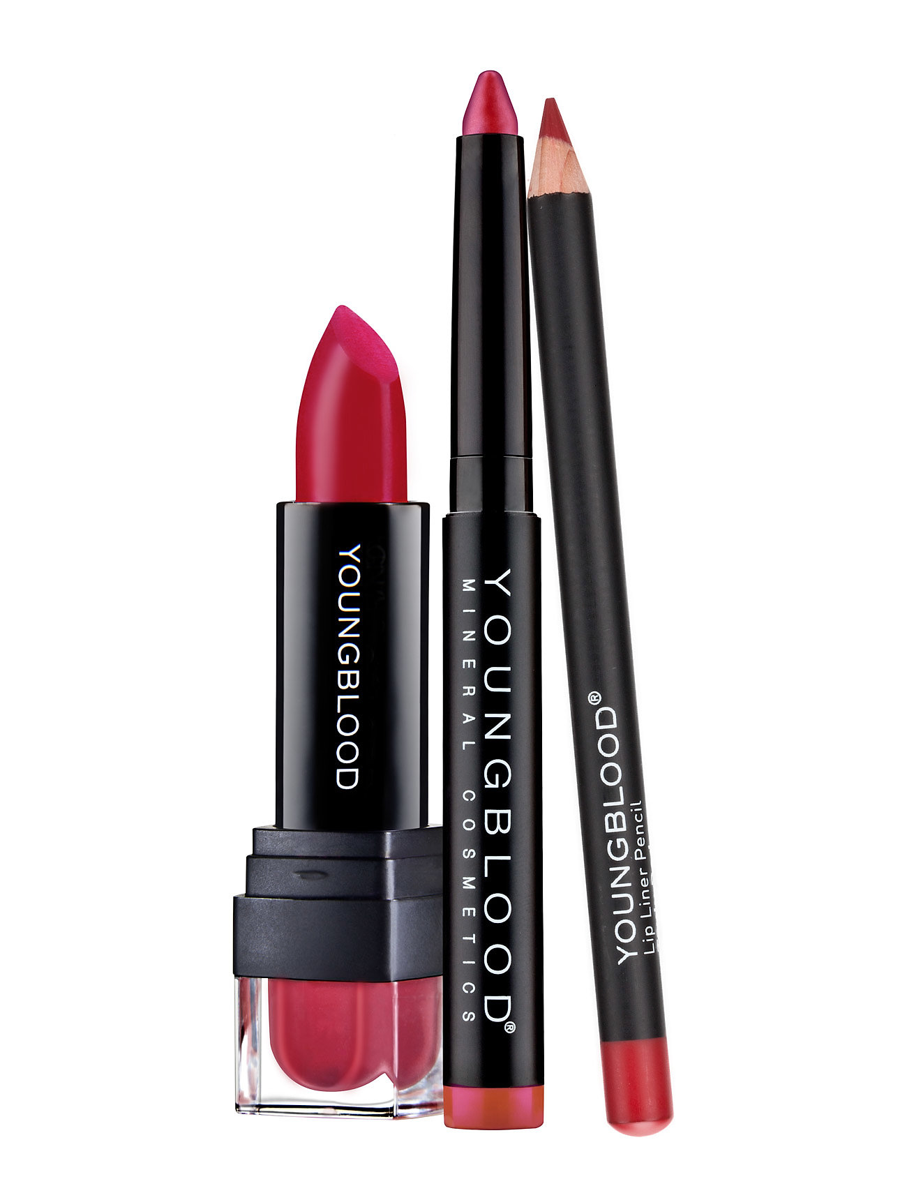 Youngblood KIT MAKE-UP HOLIDAY KITLIPS CRAYON, LIPSTSICK & PENCIL - NO COLOR