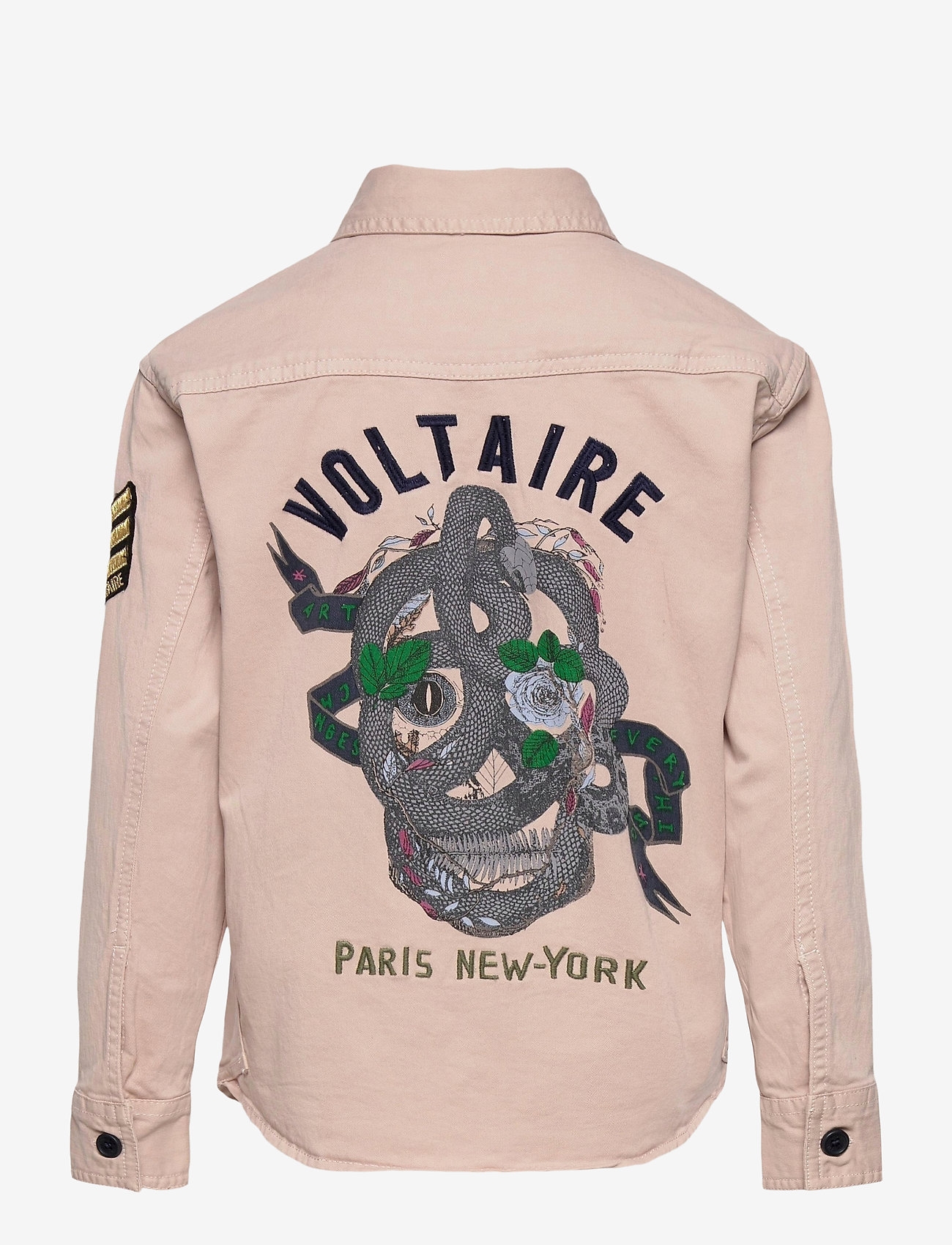 Zadig & Voltaire Kids - LONG SLEEVED OVERSHIRT - shirts - washed pink - 1