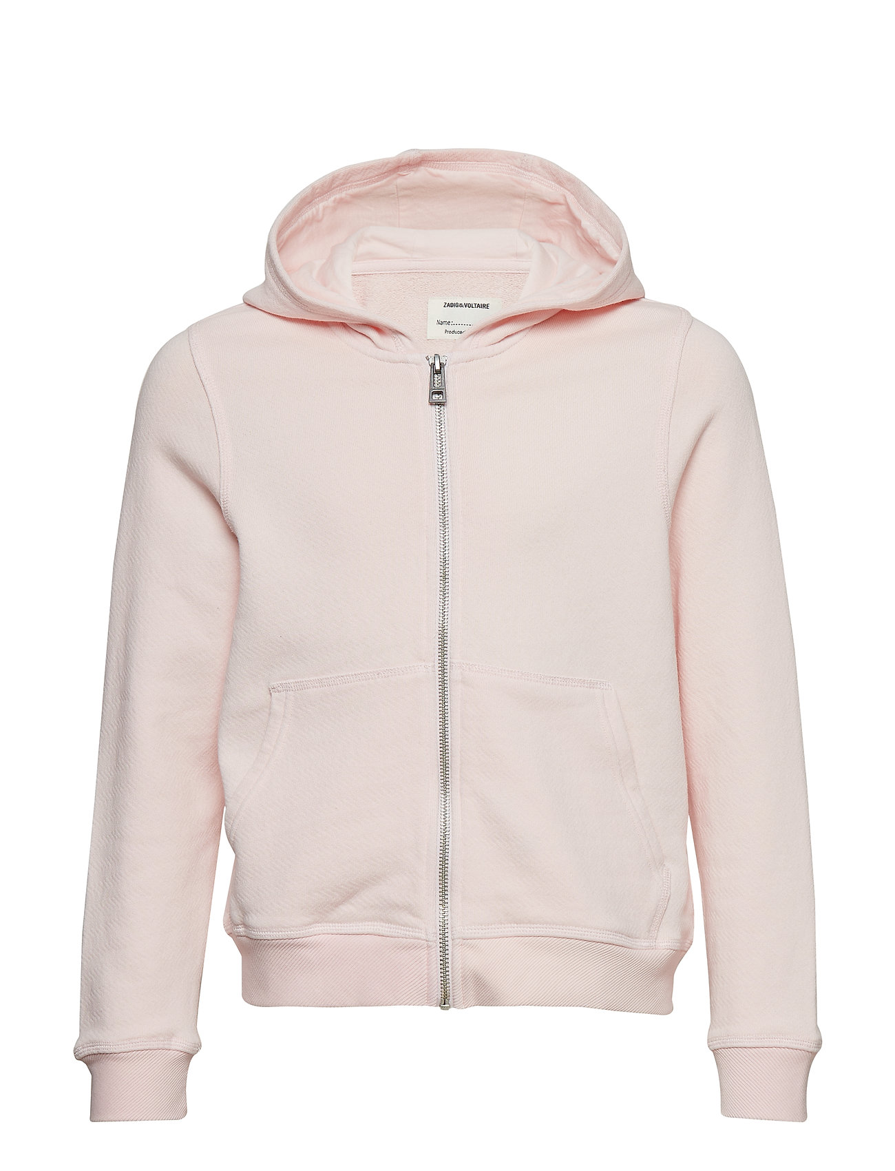 Zadig & Voltaire Kids HOODED CARDIGAN - PINK  PALE