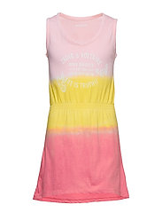 DRESS - PINK  YELLOW