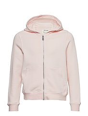 HOODED CARDIGAN - PINK  PALE