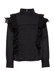 BLOUSE LONG SLEEVES - BLACK