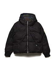 REVERSIBLE PUFFER JACKET - BLACK