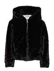 FAKE FUR JACKET - BLACK