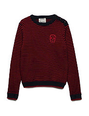 PULLOVER - NAVY  RED