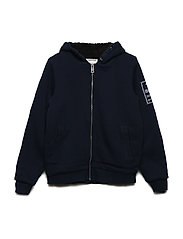 FLEECE CARDIGAN - NAVY