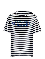 T-SHIRT - BLUE  WHITE