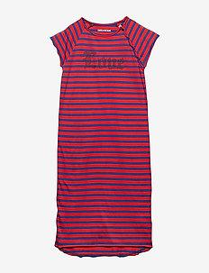 DRESS - RED/BLUE