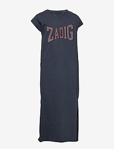 SHORT SLEEVED DRESS - SLATE BLUE