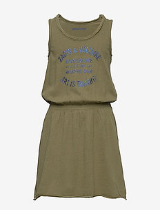 DRESS - sukienki - khaki