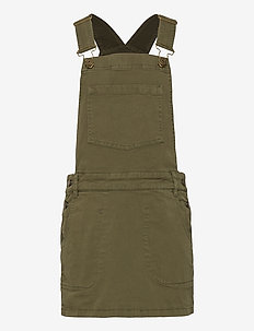 DUNGAREES DRESS - kleider - khaki