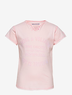 T-SHIRT TUNISIAN COLLAR - PINK  PALE