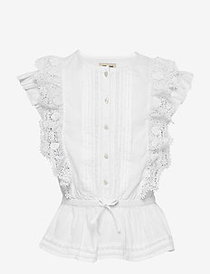 BLOUSE - bluzki i tuniki - white