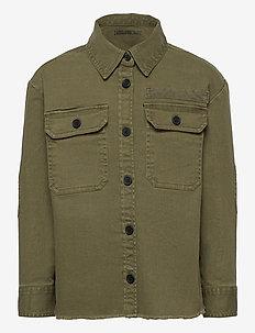 SHIRT - koszule - khaki