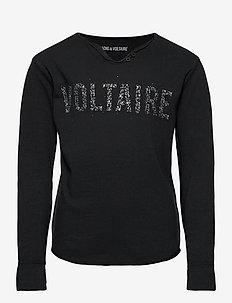 LONG SLEEVE T-SHIRT - pitkähihaiset paidat - black